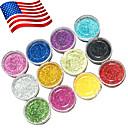 12 Colors Acrylic Powder Set For 3D Nail Art 120g