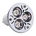 GU10 3W 3 High Power LED 300 LM Warm White MR16 LED Spotlight AC 85-265 V