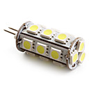 G4 1.5W 18 SMD 5050 110 LM Natural White T LED Corn Lights DC 12 V