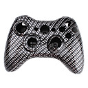 Replacement Carbon Fibre Style Housing Case for Xbox 360 Wireless Controller (Black)