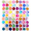 72 Farben Glitter Nail Art Dekoration Kombination