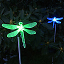 Solar Color Changing Dragonfly Style Garden Stake Licht