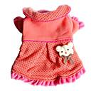개를위한 사랑스러운 곰 스타일의 장소 패턴 드레스 (XS-XL)