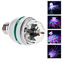 E26/E27 3W 3 High Power LED 270 LM RGB LED Globe Bulbs AC 85-265 V