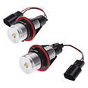 3W Cold White Light Angel Eyes LED Polttimo BMW E-sarja (2-Pack, 8-30V)