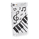 Rhinestones Design Music Pattern Hard Case for iTouch 5