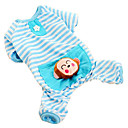 Lovely Monkey Style Stripe Pattern Shirt with Pants for Dogs (Blue,XS-XL)