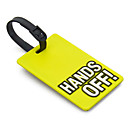 Travel Luggage Tag - HANDS OFF (Amarillo)