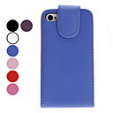 Yksinkertainen tyyli PU Leather Case for iPhone 4 ja 4S (Assorted Colors)