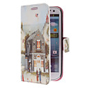 Cartoon House Pattern PU Leather Case with Stand for Samsung Galaxy S3 I9300