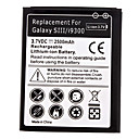 Replacement Lithium-ion Battery for Samsung Galaxy S3 i9300 (3.7v, 2500mAh)