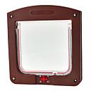4 Way Lockable Cat Small Dog Pet Screen Flap Door for Doors and Windows (15 x 15cm)