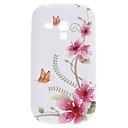 Vlinder en bloem patroon TPU Soft Case voor Samsung Galaxy S3 Mini I8910