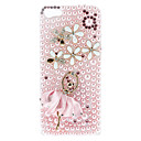 Diamond Look Pink Dancer Pattern Hard Case with Flash Light for iPhone 5