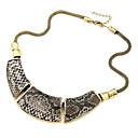 Luxury Serpentinite Polygon Retro Necklace