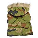 개를위한 후드와 육군 위장 스타일 따뜻한 코트 (XS-XXL)