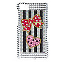 Bow Pattern Hard Case with Rhinestone for Blackberry Z10