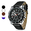 Men's Racing Design Dial PU Leather Band Quartz Wrist Watch (Assorted Colors)