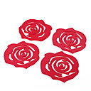 Rose Style Sponge Coaster Cup Mat (4stk)
