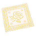 Roos Patroon Golden Lace plein PVC Coaster