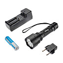 Brinyte B28 5-Mode del Cree XML U2 LED Flashlight (1000LM, 1x18650, Nero)