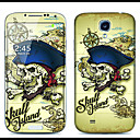Pirate Skull Pattern Front and Back Protector Stickers for Samsung Galaxy S4 I9500