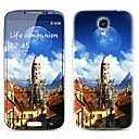 Castle Pattern Front and Back Protector Stickers for Samsung Galaxy S4 I9500