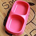 plastic hrană pentru animale de companie castron dublu pentru câini pisici (culori asortate, dimensiuni)