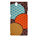 Blue Fish Scale Pattern Hard Case for SONY-L36H