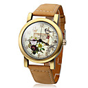 Women's Polymer Clay PU Analog Quartz Wrist Watch (Brown)