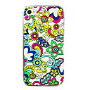 Abstract Flower Painting Back Case for iPhone 4/4S