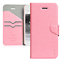 ultra-fino pu caso da aleta de couro rosa para iphone 5c