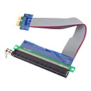 PCI-E 1X to 16X Riser Card Extension Cable (0.15M)