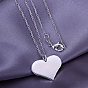 prosty srebrny wisiorek serce (tylko zawieszki)