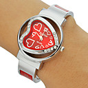 Diamante Heart-shaped Alloy Dial Bracelet Watch Band Mulheres (cores sortidas)