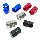 Universal Aluminium Alloy Car Wheel Schrader Valve Caps(Random Color)