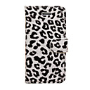 Leopard Print PU Full Body Case with Card Slot and Magnetic Snap for iPhone 5C(Assorted Colors)