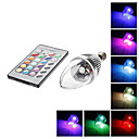 E14 3 W 1 LM RGB/Color-Changing C Remote-Controlled Candle Bulbs AC 85-265 V
