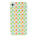 Devia Ytimekäs Värikäs kierros Dots Pattern sileää pintaa PC Hard Case for iPhone 4/4S
