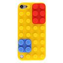 Bloques de Construcción con Removeable Caps Design silicona protectora rojo y azul para el iPod touch 5