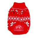 Dog Sweaters-XS/S/M/L/XL-Winter-Red-Christmas/Snowflakes-Woolen