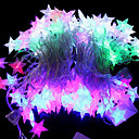 32-LED 6M Vandtæt EU Plug Outdoor Jul Holiday Dekoration Sea Star Shape RGB Light LED String Light (220V)