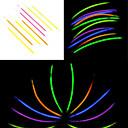 100PCS Noctilucous Glow Stick misti colore casuale Props Concerto