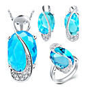 women's Luxury Silver Jewelry Set