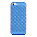 Blue Transparent Soft Silica Gel Case Cover for Apple iPhone 5/5S