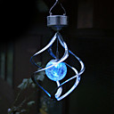 Color Changing Solar LED Saturn Wind Spinner Hanging Spiral Light (CIS-58248)