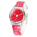 Little Pusingan Dial Colorful Band pergelangan tangan Quartz Watch Analog Wanita (Warna Assorted)