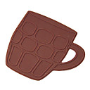 Grid Mug Shaped Silicon Cup Mat (2PCS Random Color)