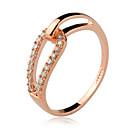 Fashion Women's Transparent Rhinestone Band Rings(Gold)(1 Pc)