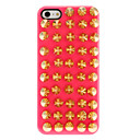 Golden Spiked Rivets Pattern Hard Case with Nail Adhesive for iPhone 5/5S (Assorted Colors)